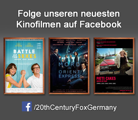 Folge den Kinofilmen der 20th Century Fox of Germany auf Facebook.